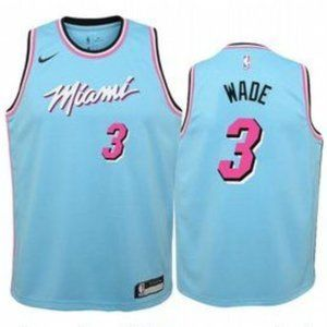 Youth Miami Heat Dwyane Wade City Jersey